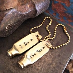 I Do, Me Too His & Hers Wedding Bullet Keychains
